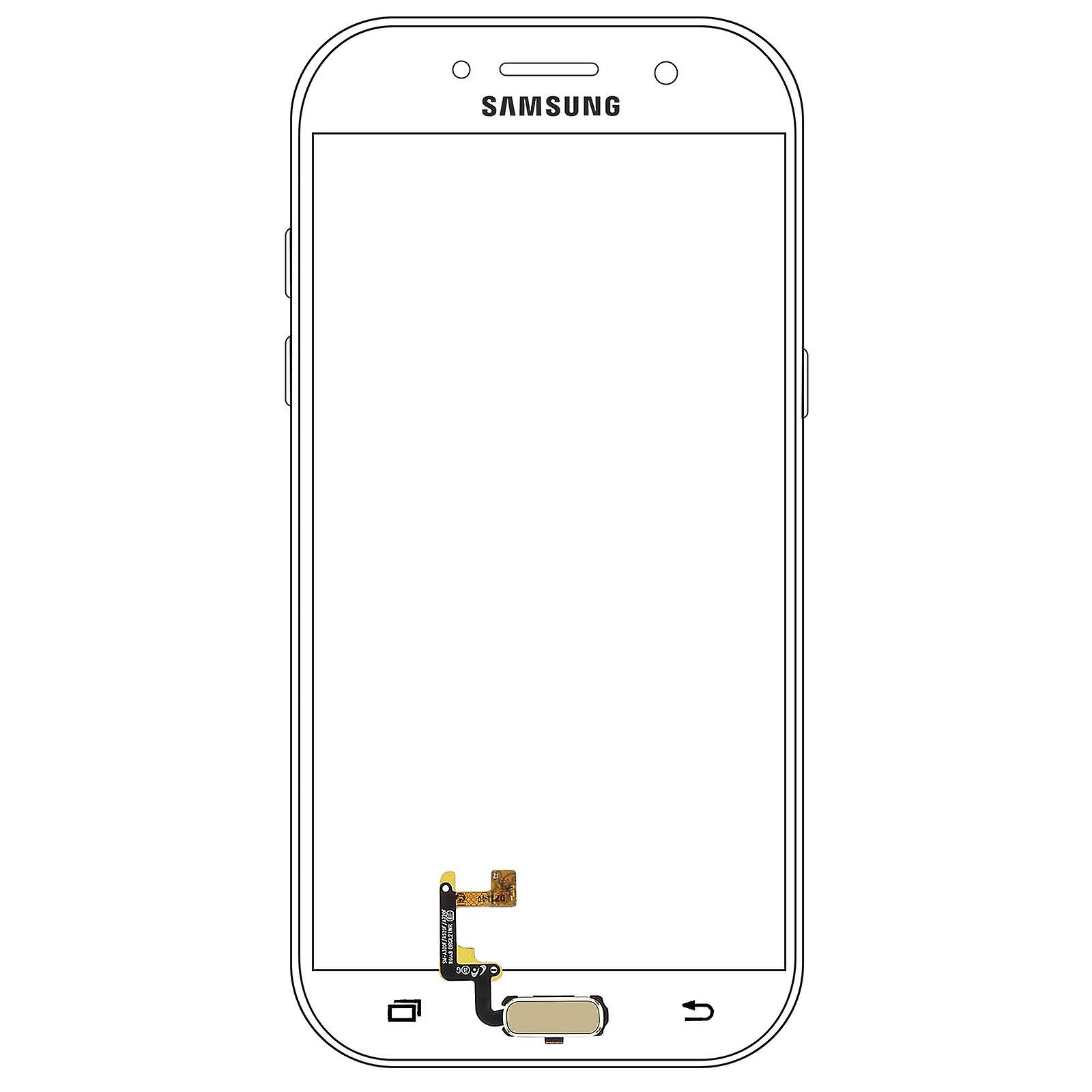 Home button + Flat Cable for Samsung A3 2017 - Gold