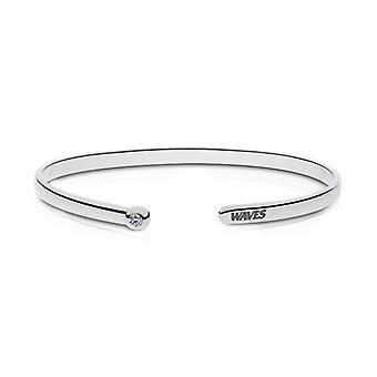 Pepperdine University Waves Engraved Diamond Cuff Bracelet
