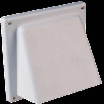 Wallair N34810 Extractor hood with backflow flap Plastic Suitable for pipe diameter: 12.5 cm