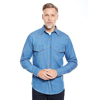 Mens Denim Shirt Long Sleeve