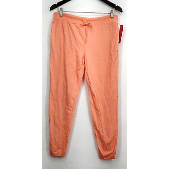 xhilaration Lounge Pants Knit Pull On Orange Womens
