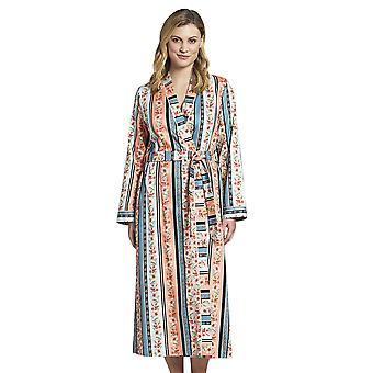 Rosch 1193620-16405 Women's New Romance Floral Multicoloured Striped Cotton Robe