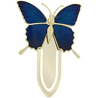 The Olivia Collection Goldtone Dark Shades of Blue Butterfly Bookmark SC1225