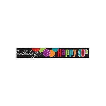 Bursdag hurrarop 40-årsdag folie Banner