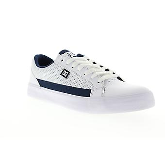 DC Lynnfield  Mens White Leather Athletic Skate Shoes