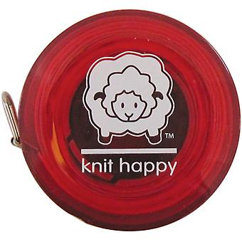 Knit Happy Tape Measure Red Kh652 Re
