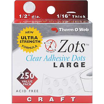 Zots Clear Adhesive Dots Craft 1 2