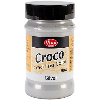 Viva Decor Metallic Crackle Paint 90Ml Silver Vvcrkm 90440