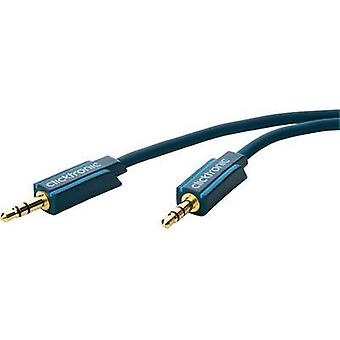 Jack Audio/phono Cable [1x Jack plug 3.5 mm - 1x Jack plug 3.5 mm] 3 m Blue gold plated connectors clicktronic