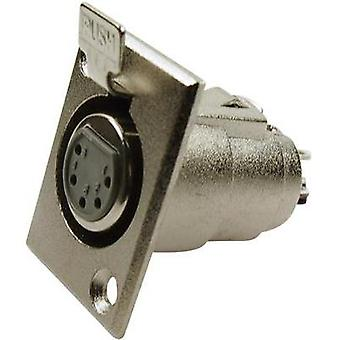 XLR connector Sleeve socket, straight pins Number of pins: 5 Silver Cliff FC6170 1 pc(s)