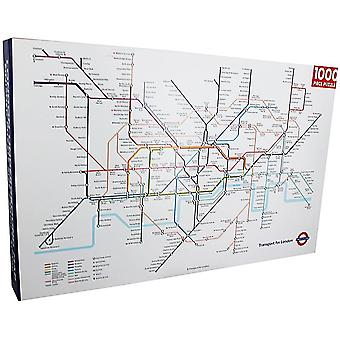 London Underground Map 1000 piece jigsaw puzzle 750mm x 500mm (rf)