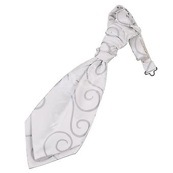 Boy's Scroll Silver Scrunchie Cravat