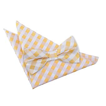 Sunflower Gold Gingham Check Bow Tie 2 pc. Set
