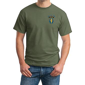 Grön basker specialstyrkor insignier broderad Logo - bomull T Shirt
