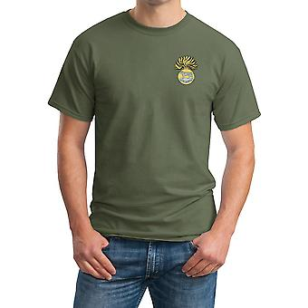 The Royal Munster Fusiliers broderad Logo - officiella brittiska armén ringspunnen T Shirt