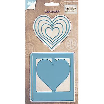 Joy! Crafts Cutting Die-Card Model Hearts JC20556