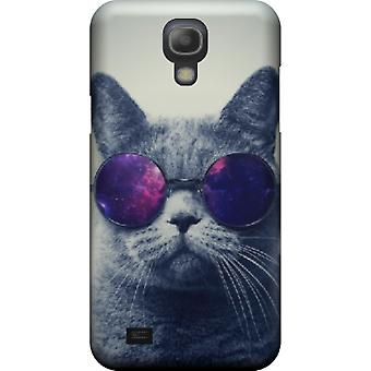Katten kompis med cover briller for S4 Galaxy mini