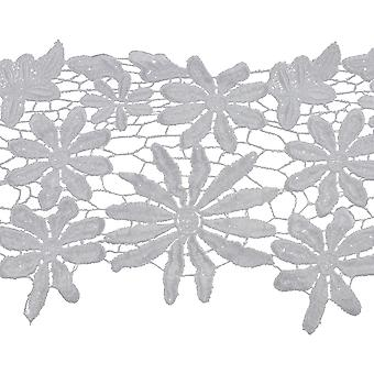 Floral Spray Bridal Venice Lace Trim 5-5/8