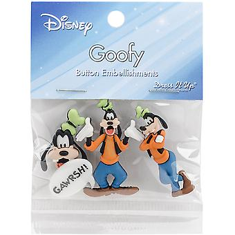 Dress It Up Licensed Embellishments-Disney Goofy DIULBTN-7730