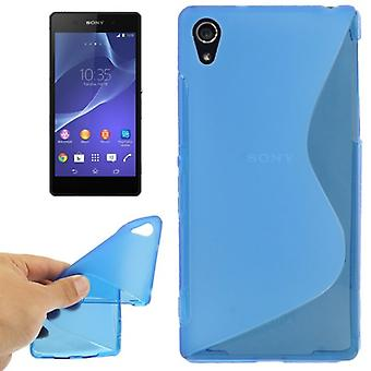 Mobile case TPU case for Sony Xperia Z2 blue