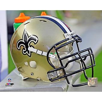 New Orleans Saints Helmet Photo Print