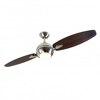 Ceiling Fan PROPELLER brushed nickel with light 137 cm / 54