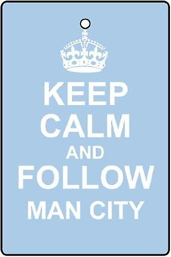 Mantieni la calma e seguire Man City Car Air Freshener