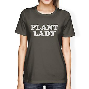 Inc Plant Lady Women's Dark Grey Cool Summer T Shirt Simple Design