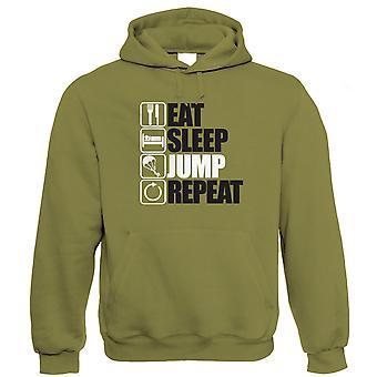 Essen Sie schlafen Sprung wiederholte Hoodie