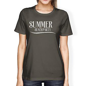 Zomer roepen het surfen tijd Womens donker grijze Vintage Design Shirt