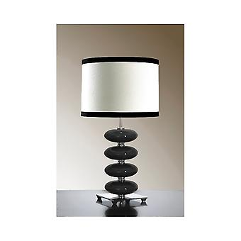 Luis Collection Onyx Black Table Lamp