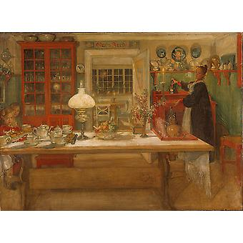 Carl Larsson - Getting Ready for a Game Poster Print Giclee
