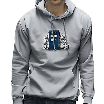 BankCy Doctor Who Tardis Cybermen Street Art Men's Hooded Sweatshirt
