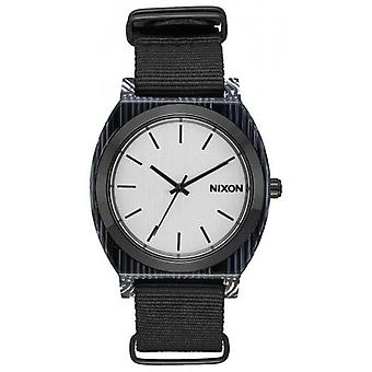 Nixon The Time Teller Acetate Watch - Black/Silver