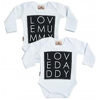 Spoilt Rotten Love Mummy & Love Daddy Babygrow Set