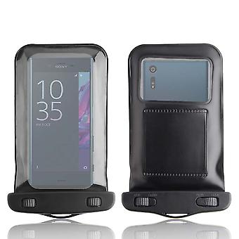 InventCase Waterproof Dustproof Bag Protective Case Cover for Sony Xperia XZ - Black