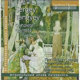 Fidler / Taneyev kvartetten - S. Taneyev - komplet kvintetter [CD] USA import