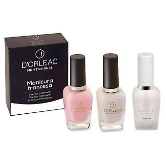 D'Orleac French manicure Rosa (Femme , Maquillage , Ongles , Kits french manicure )