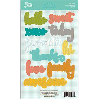 Hardy Hodgepodge Cardstock Label Words Stickers 3
