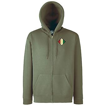 The Mercian Regiment Embroidered TRF Logo - Official British Army Zipped Hoodie Jacket
