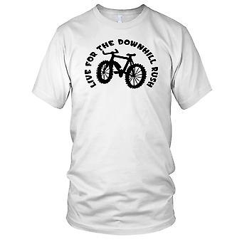 Live For The Downhill Run - Mountain Bike Kids T Shirt