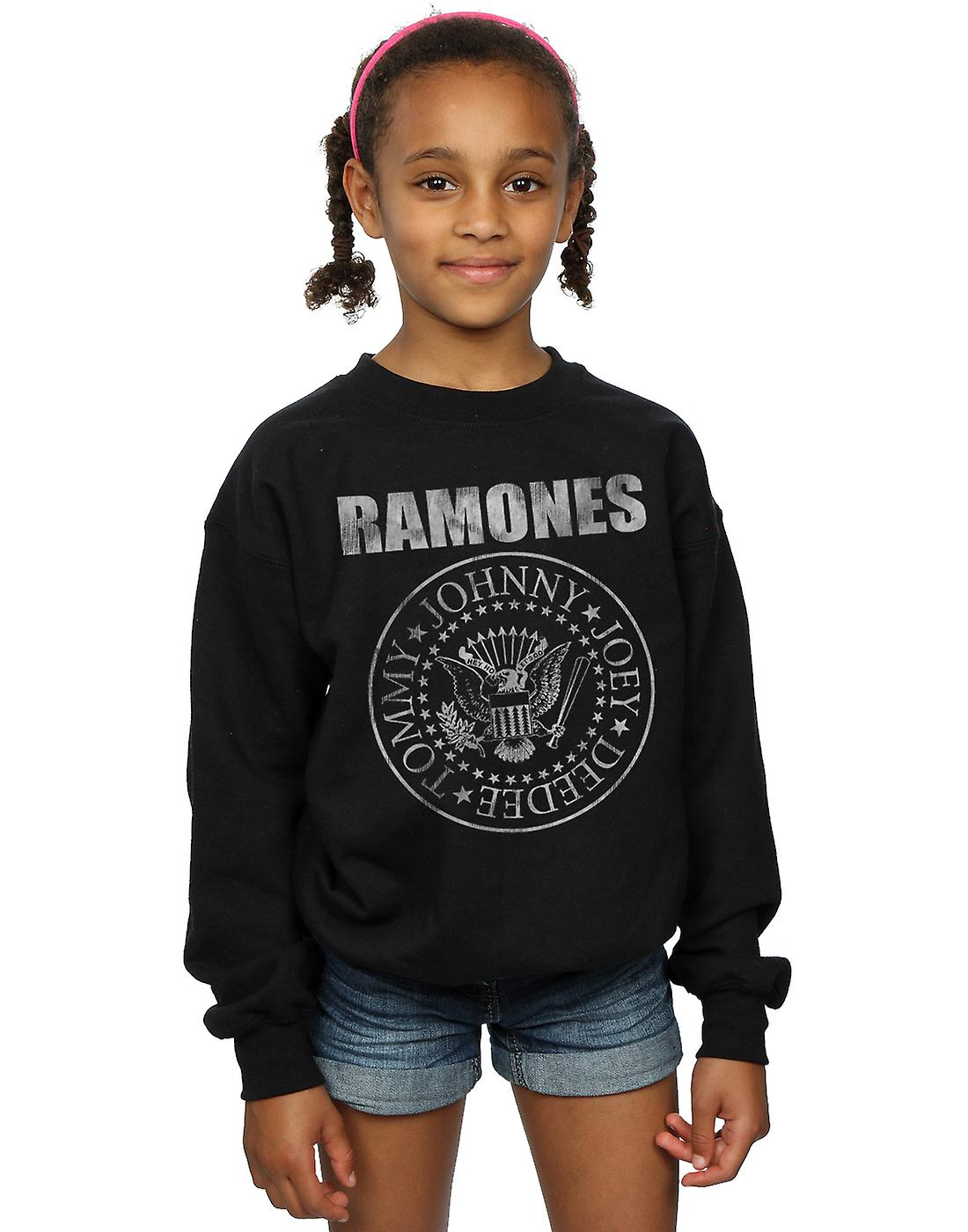 Ramones Girls Distressed Seal Sweatshirt