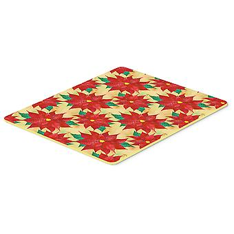Carolines Treasures  BB7485CMT Poinsetta Christmas Kitchen or Bath Mat 20x30