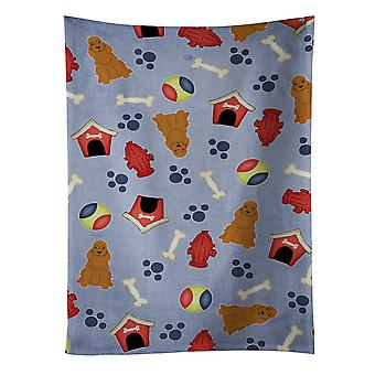 Dog House Collection Cocker Spaniel Red Kitchen Towel