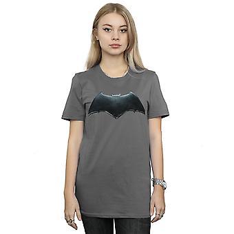 DC Comics Women's Justice League Movie Batman Emblem Boyfriend Fit T-Shirt