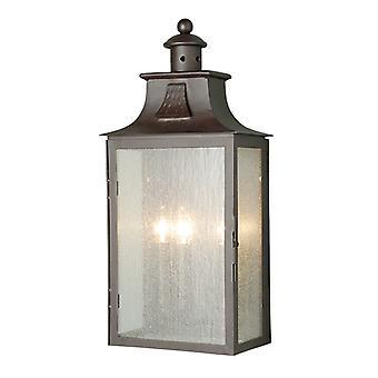 Elstead Balmoral 3 Light Half Lantern Large IP43