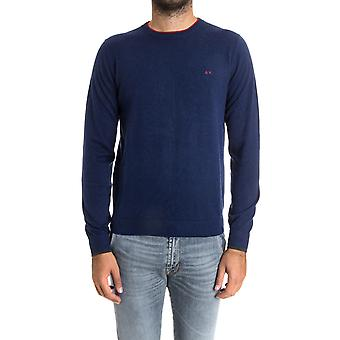 Sun 68 men's 2715212 blue cotton sweater