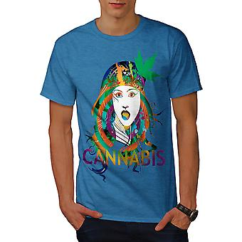 Girl Cannabis Pot Rasta Men Royal BlueT-shirt | Wellcoda