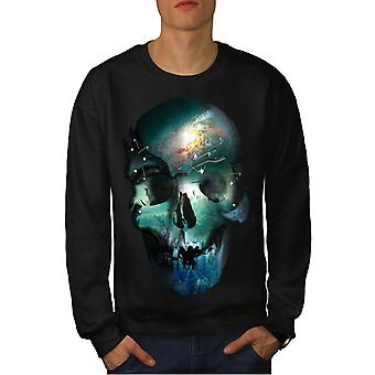 Space Metal død kraniet mænd BlackSweatshirt | Wellcoda