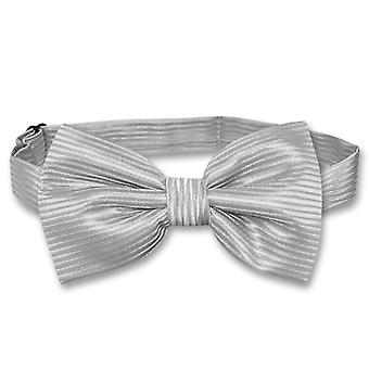 Vesuvio Napoli BOWTie Horizontal Stripe Design Men's Bow Tie